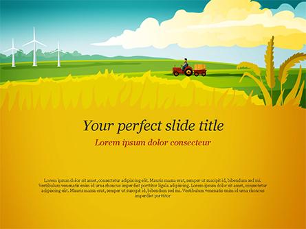 Idyllic Farm Landscape Presentation Template, Master Slide