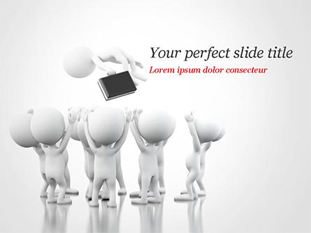 3D Business Team Work Presentation Template, Master Slide