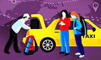 World Taxi Service Presentation Template