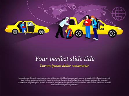 World Taxi Service Presentation Template, Master Slide