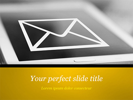 Email Icon on Smartphone Presentation Template, Master Slide