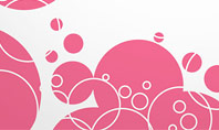 Pink Bubbles and Circles Background Presentation Template