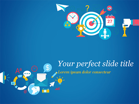 Strategic Marketing Concept Presentation Template, Master Slide