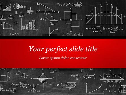 Math Equations on Chalkboard Presentation Template, Master Slide