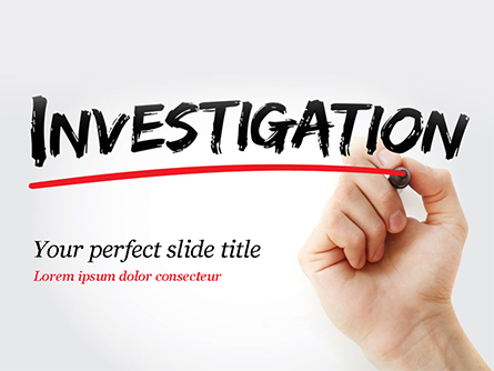 A Hand Writing Investigation Presentation Template, Master Slide