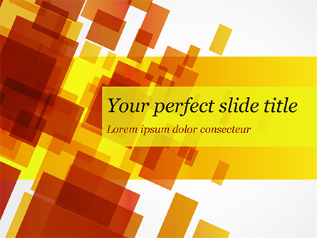 Red an Yellow Overlapping Squares Presentation Template, Master Slide