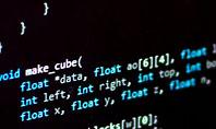 Programming Code on Computer Monitor Presentation Template