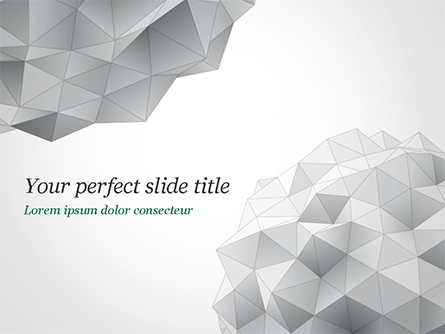 Light Gray Triangular Polygons Presentation Template, Master Slide