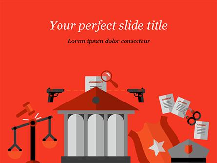 Law and Order Illustration Concept Presentation Template, Master Slide