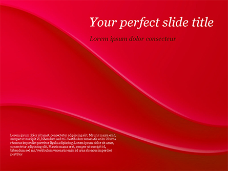 Soft Curves with Shadow Presentation Template, Master Slide