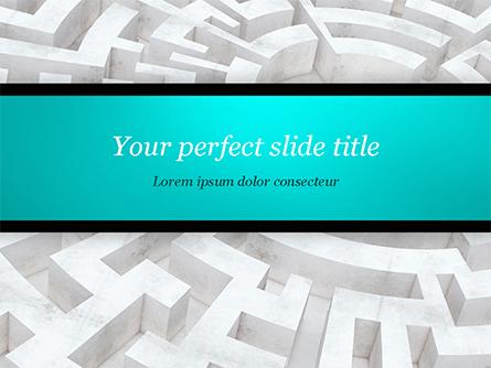 Labyrinth of Decision Presentation Template, Master Slide