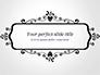 Black Floral Thin Frame slide 1