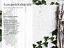Black Floral Thin Frame slide 9