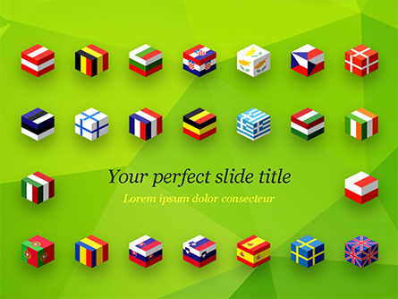 European Flags Concept Presentation Template, Master Slide
