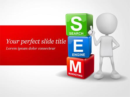 Search Engine Marketing Presentation Template, Master Slide