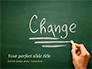 Blackboard Concept for The Word Change slide 1