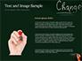 Blackboard Concept for The Word Change slide 15