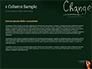 Blackboard Concept for The Word Change slide 4
