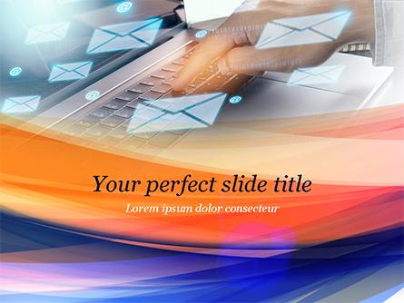 Email Management Concept Presentation Template, Master Slide