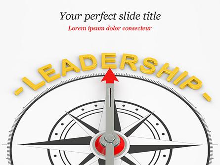 Leadership Compass Concept Presentation Template, Master Slide