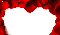 Beautiful Heart of Red Rose Petals Presentation Template