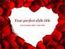 Beautiful Heart of Red Rose Petals slide 1