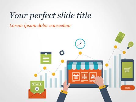 Online Shopping and Management Concept Presentation Template, Master Slide