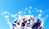 Earth in Water Splash Presentation Template