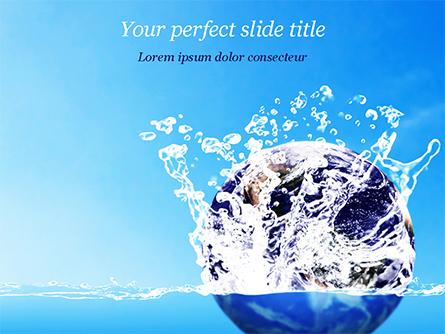 Earth in Water Splash Presentation Template, Master Slide