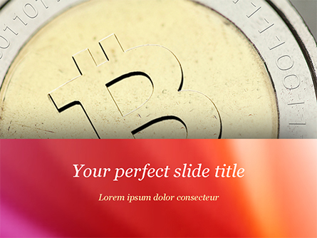 Golden Bitcoin Presentation Template, Master Slide