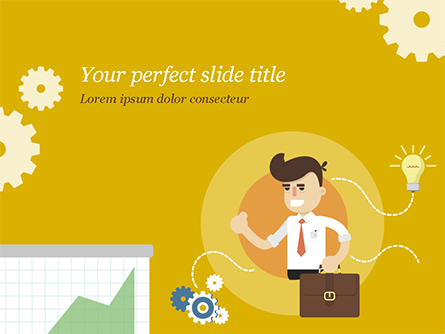 Man with Business Ideas Design Concept Presentation Template, Master Slide