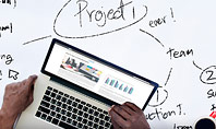 Business Team at Project Planning Presentation Template