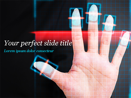 Fingerprint Scanning Presentation Template, Master Slide