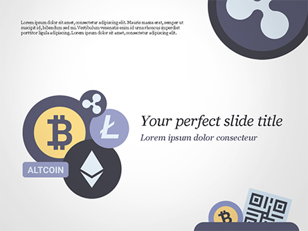Cryptocurrency Coins Presentation Template, Master Slide