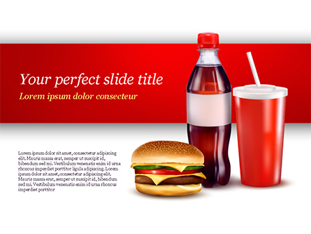 Fast Food Menu Presentation Template, Master Slide
