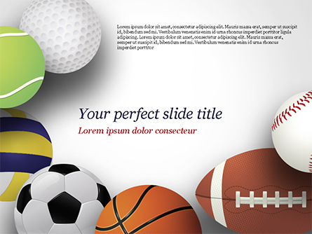 Different Sport Balls Presentation Template, Master Slide