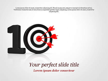 10 with Dartboard Presentation Template, Master Slide