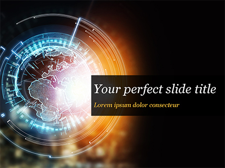 Luminous Digital Globe Presentation Template, Master Slide