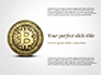 Gold Coin with Bitcoin Sign slide 1