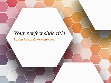 Abstract Colorful Honeycombs Presentation Template, Master Slide