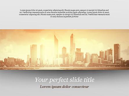 City Skyline Photo Presentation Template, Master Slide
