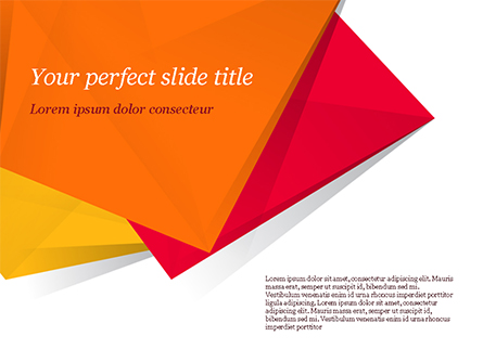 Three Bright Abstract Polygons Presentation Template, Master Slide