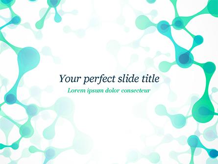 Abstract Green Molecular Structure Presentation Template, Master Slide