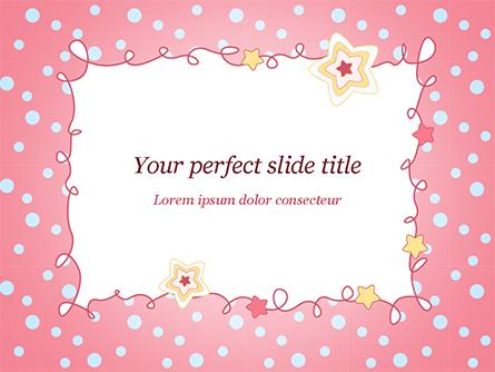 Pink Greeting Card Presentation Template, Master Slide