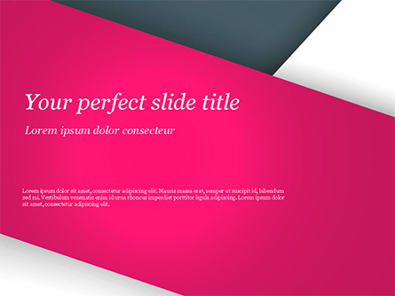 Abstract Background with Pink and White Paper Layers Presentation Template, Master Slide