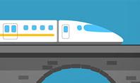 High-Speed Train Illustration Presentation Template