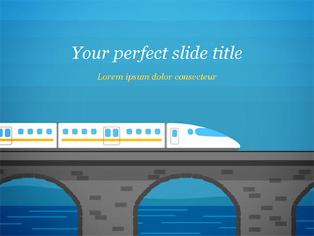 High-Speed Train Illustration Presentation Template, Master Slide