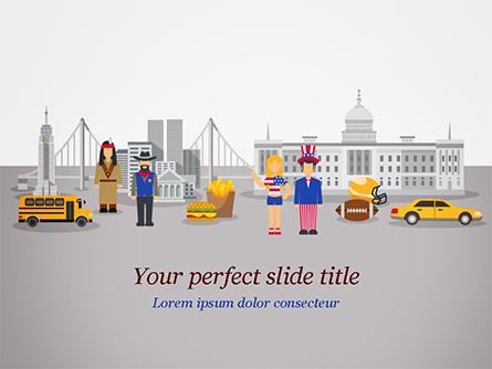 American Symbols Illustration Presentation Template, Master Slide