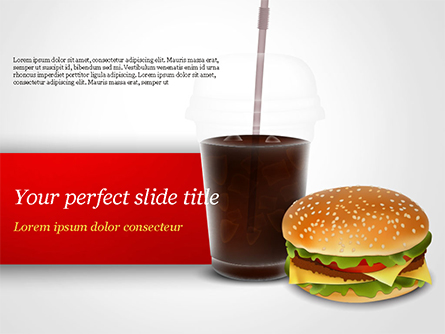 Fast Food Illustration Presentation Template, Master Slide