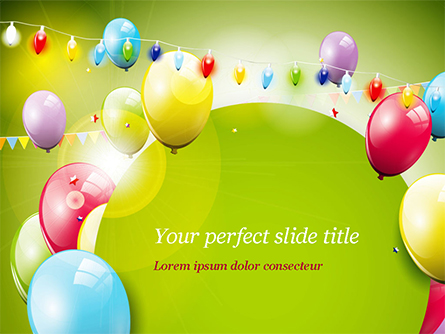 Colorful Balloons and Garlands Presentation Template, Master Slide